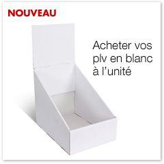 PLV blanche de comptoir