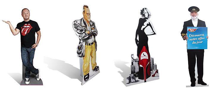 silhouette en carton ou en pvc fabricant de plv bikomshop